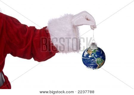 Santa Claus With Earth Ornament