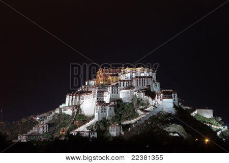 Night Scenes Of Potala Palace