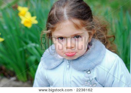 Young Kid Girl Yellow Flower