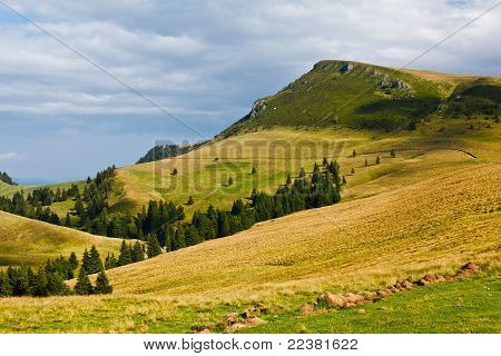 Landscape With Mountains In Romania