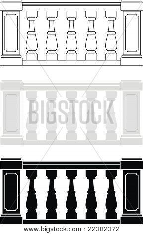 建筑元素-栏杆 库存矢量图和库存照片 | bigstock