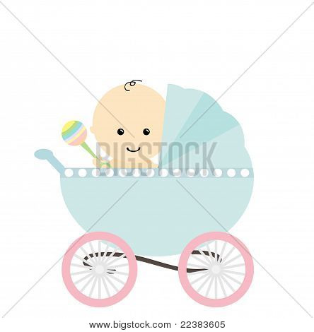 Baby in pram