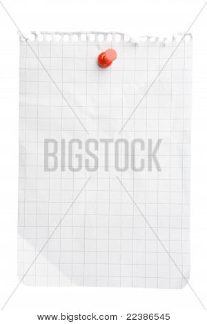 Notepad Sheet With Pushpin