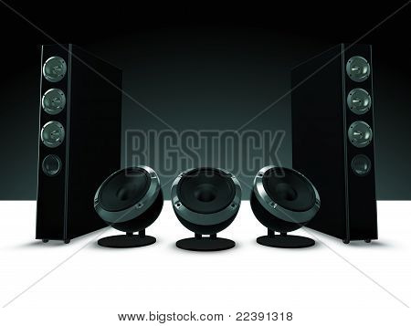 High definition audio speakers, music