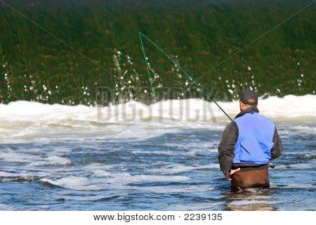 Fishing Below The Dam