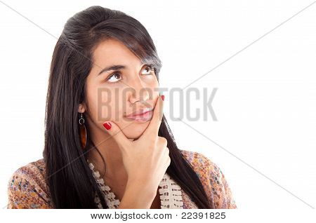 Young Woman Smiling Isolated