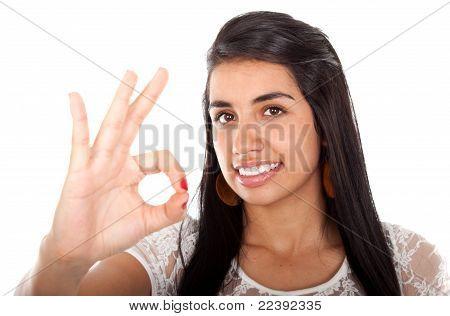 Beautiful Smiling Model