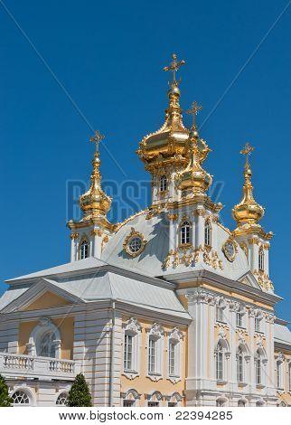 O Grand Palace, Peterhof, Rússia