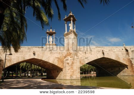Old Bridge In Valencia, Spain