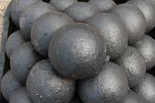pic of cannonball  - Cannonballs from Southsea Castle - JPG