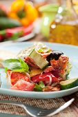 stock photo of greek food  - Greek Salad  - JPG