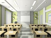 stock photo of training room  - Interior of the lecture - JPG