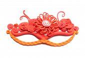 Bright carnival mask of plasticine. Red carnival mask poster