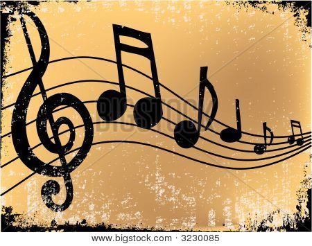 Musicnotegrunge