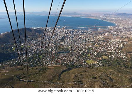 Cape Town Seen From Table Mountain Cable Car