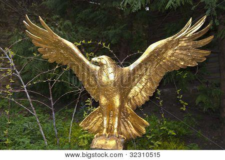 Gold Eagle Statue