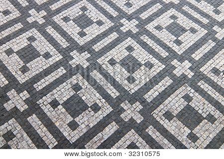 Granite Cobblestoned Pattern Background