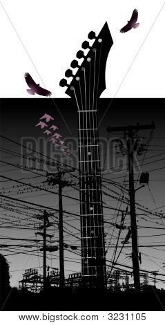 Electricity Guitar Birds.