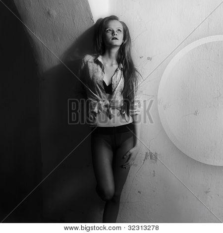 schwarz / weiß Foto-Kunst-Mode