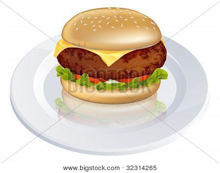 Beefburger Or Cheeseburger Illustration