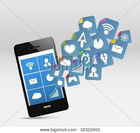 Modern mobile phone and social media