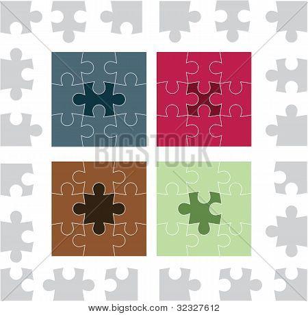 Coloured Puzzle Piece