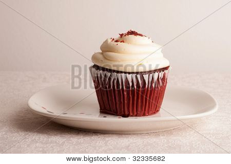 Close up of Red Velvet Cupcake