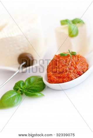 Tomato paste and basil