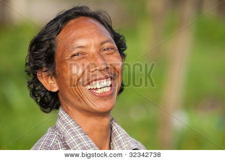 Happy Balinese Man