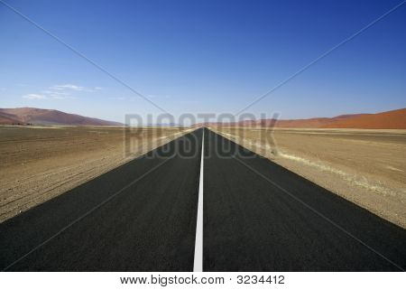 Bare Road With Line