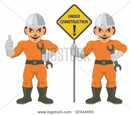 Construction Worker superman.eps