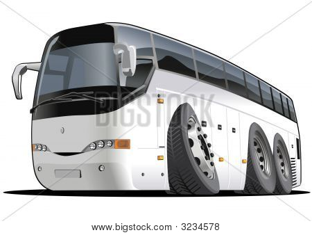 Vector Cartoon Tourist Bus