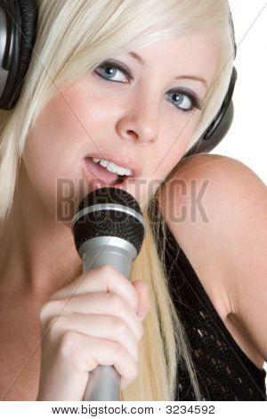 Pretty Blonde Singer