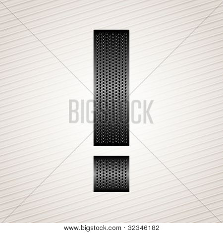 Letter metal ribbon - exclamation mark