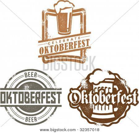 Estilo vintage Oktoberfest Beer Festival gráficos