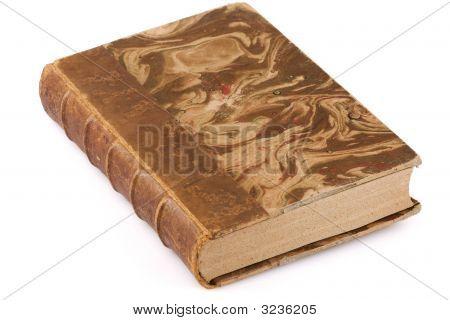 Close Up Shot Of An Antique Book