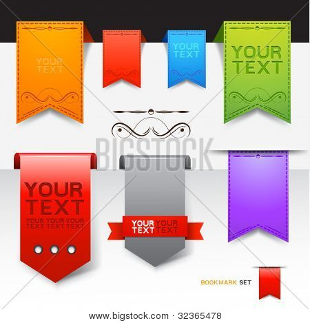 A Collection of bookmarks, vector designs.
