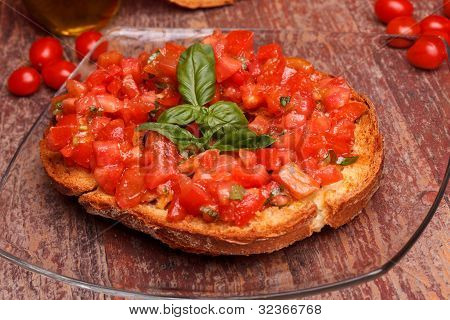 Italian Frisella With Tomatoes And Basil