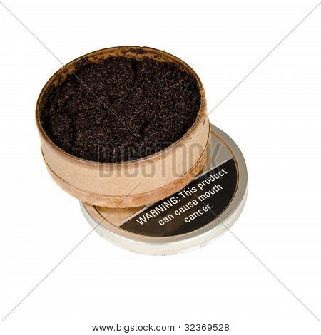 Image of tobacco snuff isolated on white.