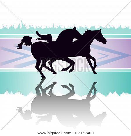 Running horses