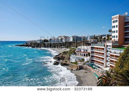 Nerja Beach and City - Spain