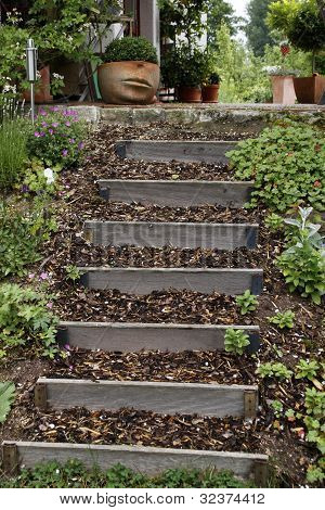Garden Flower Pot With Stairs