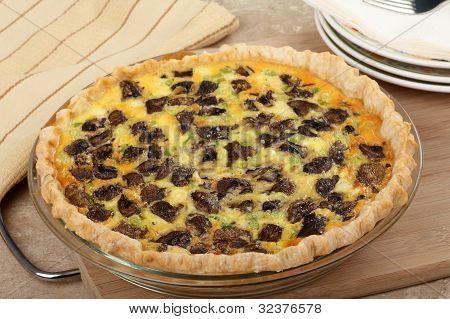 Mushroom Quiche