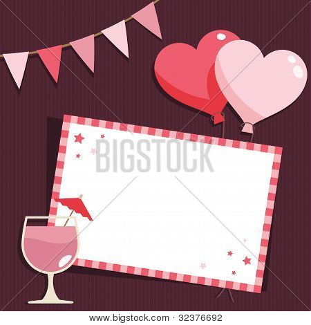 Pink Party Card