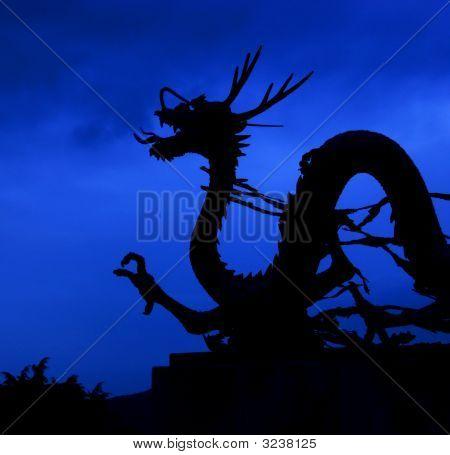 Asian Dragon At Dusk.