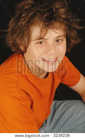 Happy Thirteen Year Old Boy