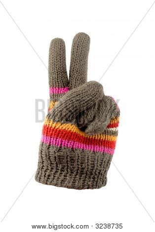 Gloves With Peace Sign