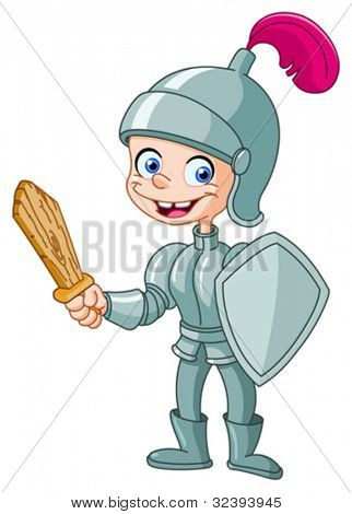 Happy knight kid