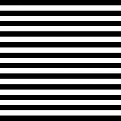 Halloween Pattern Of Repetitive Horizontal Strips Of Black And White Color. Black And Orange Horizon poster