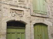 Carved Medieval Door Lintel And Arched Doorways